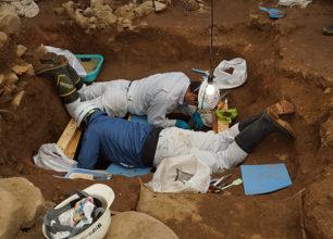 発掘の様子