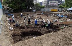 魚の町遺跡(公会堂前公園)埋蔵文化財発掘調査